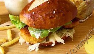 Fisch-Burger Laugen- Körner Brötchen #FastFood #Rezept #IrreLecker