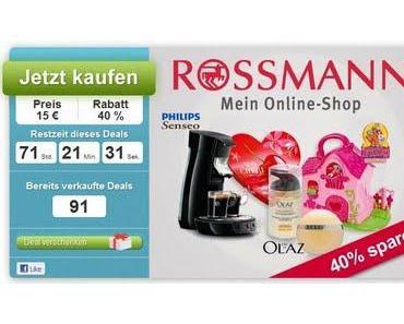 [Dailydeal] 25-Euro-Rossmann-Gutschein für 15 Euro