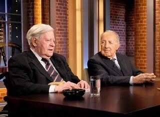 Helmut Schmidt und Peter Scholl-Latour bei Beckmann