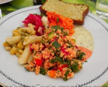 Euer Lieblingsrezept zur Grillsaison: Orientalischer Couscous Salat – glutenfrei, mit Hirse