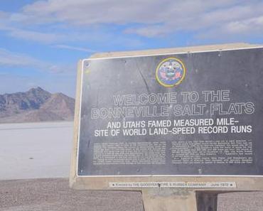 Bonneville Salt Flats, Utah  – Die große Salzwüste nahe Salt Lake City