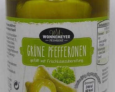 ALDI - Wonnemeyer Feinkost - Grüne Pfefferonen gefüllt mit Frischkäsezubereitung