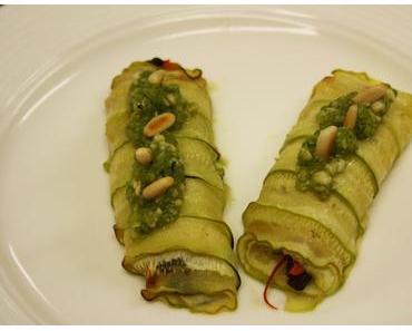 Sommerliche Gemüselonis mit Pesto (lacto-vegetarisch)