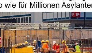 Einwanderungsgesetz bedeutet Gewinn Unternehmen, aber steuerzahlende Bürger muss später arbeitslosen Migranten, analog Asylanten, alimentieren