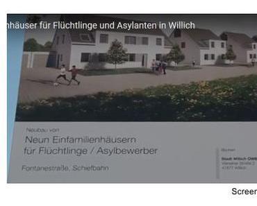 Die neuen Doppelhaushälften in Willich stehen jetzt zum kostenlosen Bewohnen für die Flüchtlingsmigranten bereit