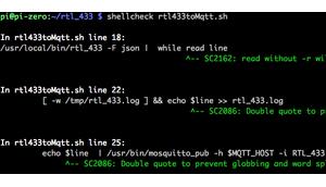 Shell Scripte überprüfen ShellCheck auch Raspberry (Zero Minuten möglich JUnit xslt