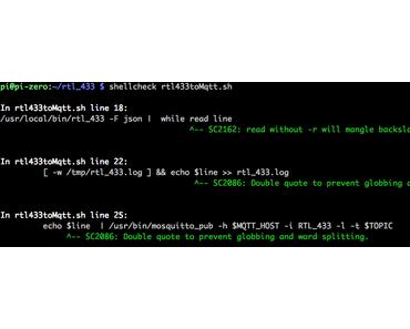 Shell Scripte überprüfen mit ShellCheck auch auf dem Raspberry Pi (Zero W) in 5 Minuten möglich und auch JUnit via xslt