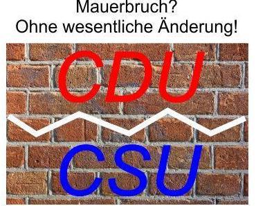 Der Medien-Mainstram schürt Angst vor einem Bruch der Fraktionsgemeinschaft CDU/CSU, obwohl sich nichts Wesentliches ändert