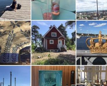 #Sonntagsglück – oder – Lilamalerie in Stockholm