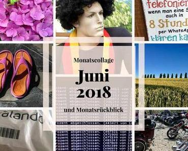 Schuhdrama und Triken – Meine Monatscollage und Monatsrückblick Juni 2018