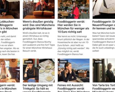 Biancas Blog auf tz.de – meine wöchentlich Foodkolumne - + + + Wöchentlich ein Food-Kolumne rund um die Gastronomie, Kulinarik und Genuss + + +