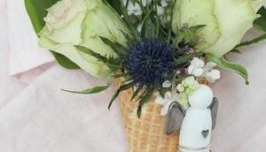 Blumeneis, Glücksbringer Draht biegen, Schutzengel, kleiner Begleiter oder gerade meisten braucht