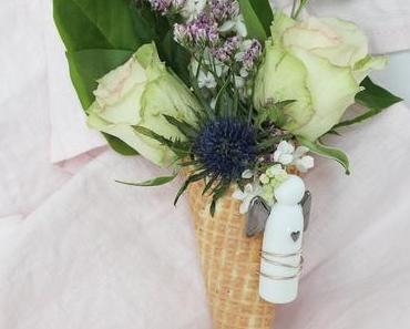 DIY Blumeneis, Glücksbringer aus Draht biegen, Schutzengel, kleiner Begleiter oder was man gerade am meisten braucht