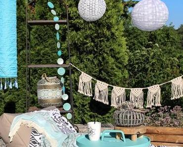 Palettenlounge Deko Inspiration und Terrassengestaltungs Ideen
