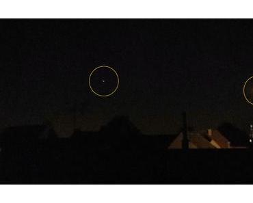 Foto: Jupiter und Mond im Westen von Lüdinghausen