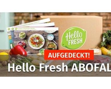 AUFGEDECKT! ▷ Hello Fresh ABOFALLE? Erfahrungen zeigen…