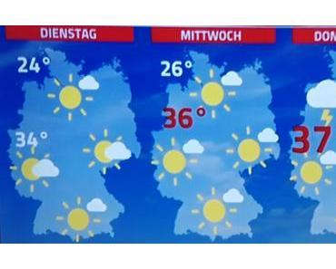 Eine Woche mit Sommerhitze bis 38°