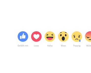 Facebook Reactions Studie – so klickt das Netz!