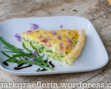 Feierabendküche: Quiche mit Zucchini und Provolone Käse