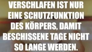 VERSCHLAFEN EINE SCHUTZFUNKTION DES...