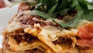 Vegetarische Lasagne, normale Lasagne schmeckt