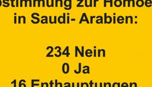 Abstimmung Homoehe Saudi- Arabien: 234...