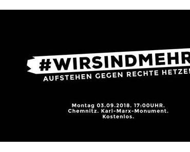 #wirsindmehr – Marteria, CASPER und TRETTMANN treten gegen rechte Hetze in Chemnitz auf!