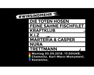 """NEWS: Konzert """"Wir sind mehr"""" am kommenden Montag in Chemnitz"""