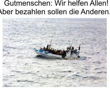 Tausende Gutmenschen forderten in Hamburg die Seenotrettung aufrechtzuerhalten und gesicherte Fluchtwege, Shuttle Verkehr zu Wasser und Luft in das Wohlfühlparadies
