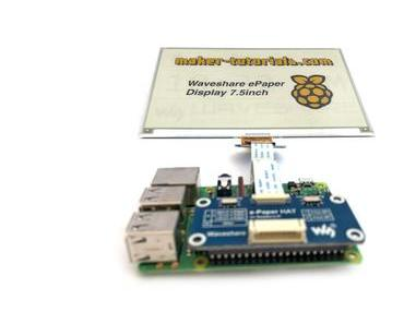 Waveshare Three Color E-Paper Display am Raspberry Pi 3 anschließen – eink driver hat