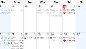 Informant Calendar Termine Aufgaben samt Synchronisation einer