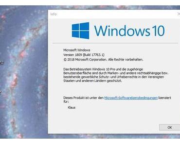 Microsofts Windows 10 Oktober 2018 Update ist da