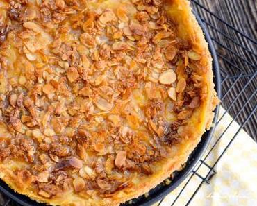 Rezept: Apfel Champagner Kuchen mit Mandelkruste