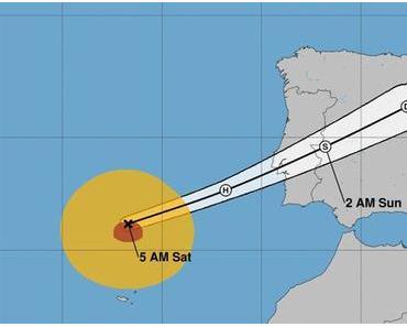 Der Hurrikan Leslie konnte die iberische Halbinsel in dieser Nacht mit heftigen Regenfällen und Windböen erreichen