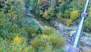 Fluss überquert