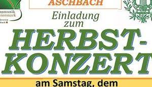 Termintipp: Herbstkonzert MV-Aschbach 2018