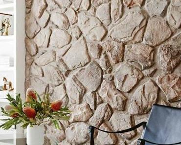 Nemerkenswert Wandsteine Wohnzimmer  Ideen