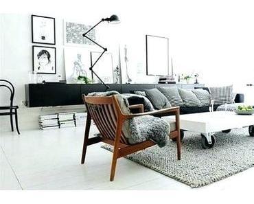 Spannend Skandinavisches Wohnzimmer  Design