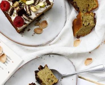 EAT YOUR GREENS UND SO… Saftiger Pistazienkuchen mit Schokostückchen und Cremehäubchen – Lindt Creation Pistachio Delight
