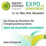 Energy Storage Europe 2019 neuem Schwerpunkt Speicher-Anwendungen
