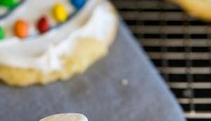 Melted Snowman Cookies Geschmolzene Schneemannkekse