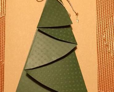 Bäumchen mit dem richtigen Kniff- oder – Gefaltete Tanne für die Weihnachtspost
