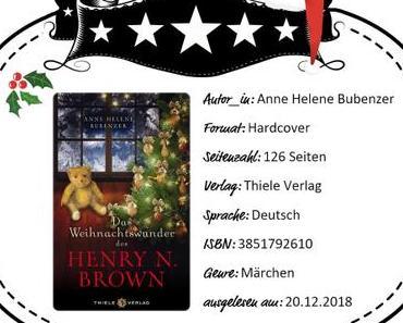 Anne Helene Bubenzer – Das Weihnachtswunder des Henry N. Brown
