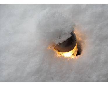 Foto: Ein Licht im Schnee