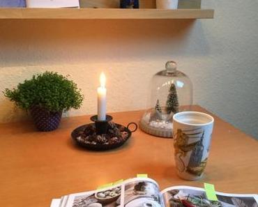 12 von 12 im Januar 2019 – oder – Von Frühstück bei Kerzenlicht, grauem Nieselwetter, Bügeln und Lesen