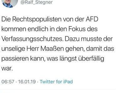 Pöbel-Ralle (SPD) bestätigt Aussage des Ex-Präsidenten des Verfassungsschutzes über linksradikale Kräfte in der SPD