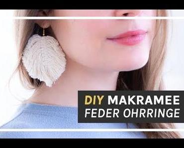 Makramee Anleitung: DIY Feder Ohrringe selber machen