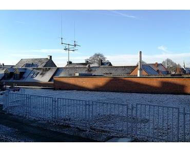 Foto: Schnee auf den Dächern von Lüdinghausen