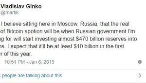 Wird Russland Bitcoin investieren?