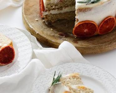 ZU GUT UM WAHR ZU SEIN! Himmlisch aromatische Blutorangen Curd Torte mit Walnussbiskuit und Joghurtcreme